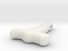 Hammer pendant from Gayton in White Natural Versatile Plastic