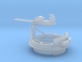 1/72 Scale Mk 17 50 cal Gun Mount in Smooth Fine Detail Plastic