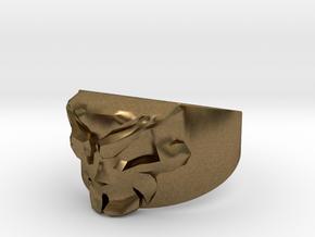 Skull Ring Size 11.5 in Natural Bronze
