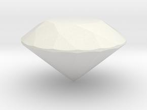 40mm Round gemstone in White Natural Versatile Plastic