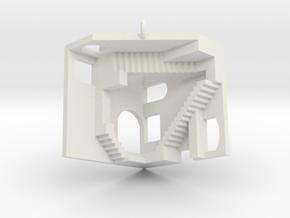 Relatively Impossible Pendant in White Premium Versatile Plastic