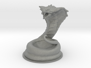 Giant Cobra 38mm DnD miniature fantasy games rpg in Gray PA12