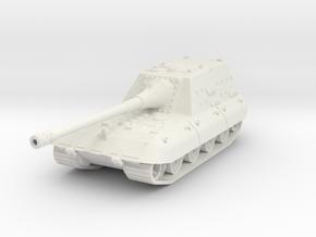 Jagpanzer E-100 1/100 in White Natural Versatile Plastic