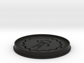 Oreo cookie cutter/press (Nabisco Thing print) in Black Natural Versatile Plastic