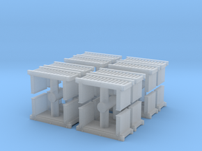 Roller Conveyor (x16) 1/200 in Smooth Fine Detail Plastic
