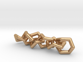 Cycloheptane Conformations Chain in Natural Bronze (Interlocking Parts)