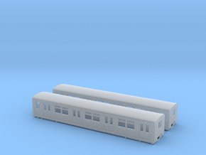 BR 877 Trailer H0 [2x body] in Smooth Fine Detail Plastic