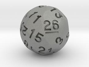 d26 Sphere Dice (ver. 2) in Gray PA12