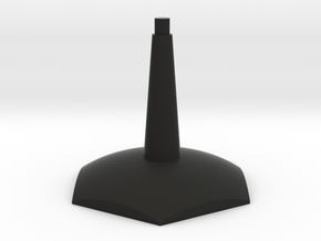 One piece Hex flying-space stand in Black Natural Versatile Plastic