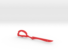 Scissor Blade in Red Processed Versatile Plastic