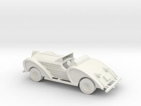 S Scale Antique Car in White Natural Versatile Plastic