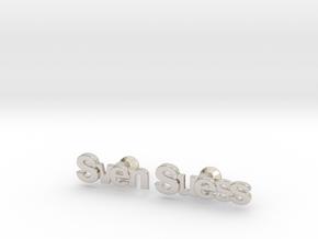 "Custom Name Cufflinks - ""Sven Suess"" in Platinum"