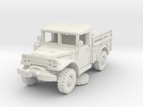 Dodge M37 (Side Racks) 1/72 (no windows) in White Natural Versatile Plastic