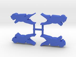 Scuba Diver, 4-set in Blue Processed Versatile Plastic