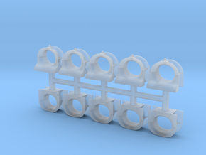 Bow & Stern Chocks - 1/96 - 5 pairs in Smoothest Fine Detail Plastic