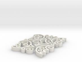 balance game - Murchgame in White Natural Versatile Plastic