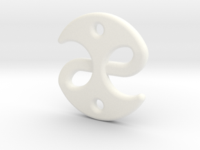 Fable medallion in White Processed Versatile Plastic