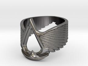 AC ring Master Custom (big version) in Polished Nickel Steel