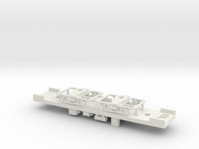 TMER&L Kuhlman single car underframe N scale in White Natural Versatile Plastic