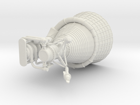 Saturn V F-1 Engine 1:32 scale in White Natural Versatile Plastic