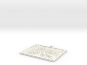Canabis Sativa hanging lithophane Meme in White Natural Versatile Plastic
