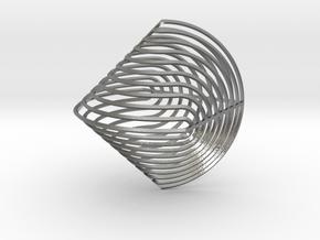 Sphericon Z in Natural Silver