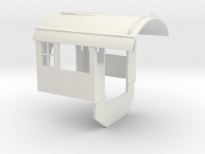 C&NW 2-8-0 Cab (Bachmann) Ver. 1 in White Natural Versatile Plastic