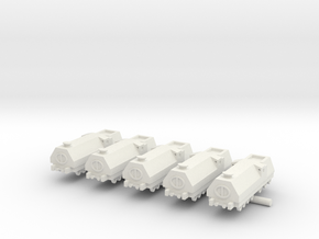 Armored Train x5 in White Natural Versatile Plastic