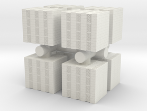Concrete Bricks Pile (x8) 1/100 in White Natural Versatile Plastic
