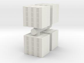 Concrete Bricks Pile (x4) 1/76 in White Natural Versatile Plastic