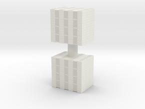 Concrete Bricks Pile (x2) 1/72 in White Natural Versatile Plastic