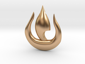 Fire Pendant in Polished Bronze