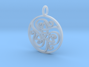 open Celtic knotwork pendant in Smoothest Fine Detail Plastic