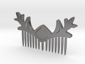 Lenore Hairpiece in Polished Nickel Steel