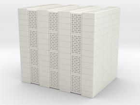 Concrete Bricks Pile 1/24 in White Natural Versatile Plastic