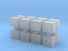 Concrete Bricks Pile (x16) 1/200 in Smooth Fine Detail Plastic
