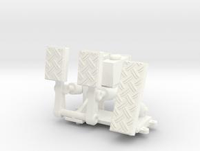 FA20005 Sand Rail Pedal Box in White Processed Versatile Plastic