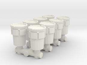 Hazmat Salvage Drum (x8) 1/100 in White Natural Versatile Plastic