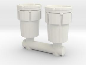 Hazmat Salvage Drum (x2) 1/72 in White Natural Versatile Plastic