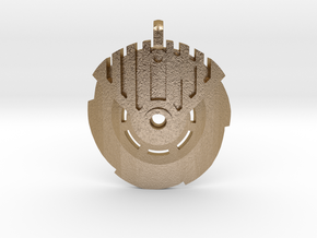 Ice Bohrok Pendent in Polished Gold Steel