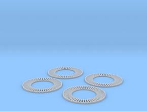 1/200 IJN Yamato Funnel wood tread circles SET in Smooth Fine Detail Plastic