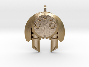 Earth Bohrok Pendent in Polished Gold Steel