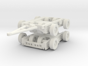 Culemeyer Trailer 2 axis (x2) 1/87 in White Natural Versatile Plastic