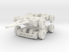 Culemeyer Trailer 2 axis (x2) 1/72 in White Natural Versatile Plastic