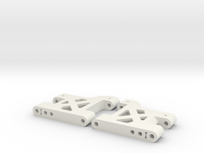 MO28-1 - 37.5mm (Stock) LW rear suspension arms  in White Natural Versatile Plastic