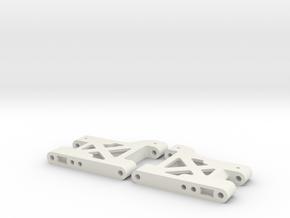 MO28-4 - 43.5mm lighweight rear suspension arms in White Natural Versatile Plastic