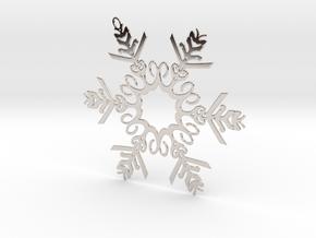 Colin metal snowflake ornament in Platinum