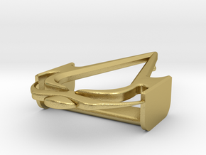 """Pirates Officer Buckle - 2"""" V1 in Natural Brass"""