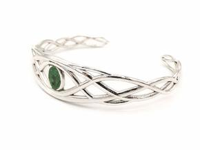 Tree of Eden Bracelet - without inlay in Polished Silver