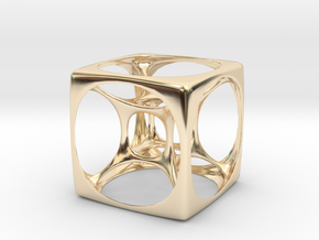 Hyper Cube 3 in 14K Yellow Gold